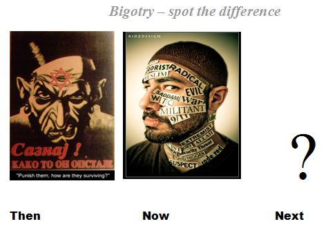 Bigotry - Spot the difference