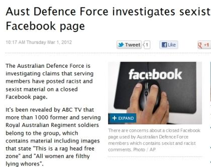 ADF Facebook page