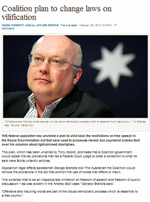Brandis wants you insulted
