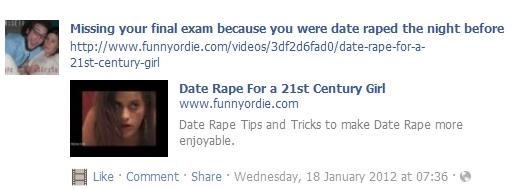 Pro rape post
