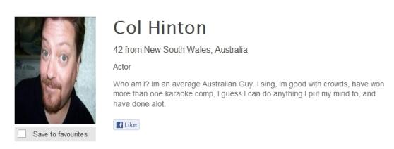 Col Hinton bio