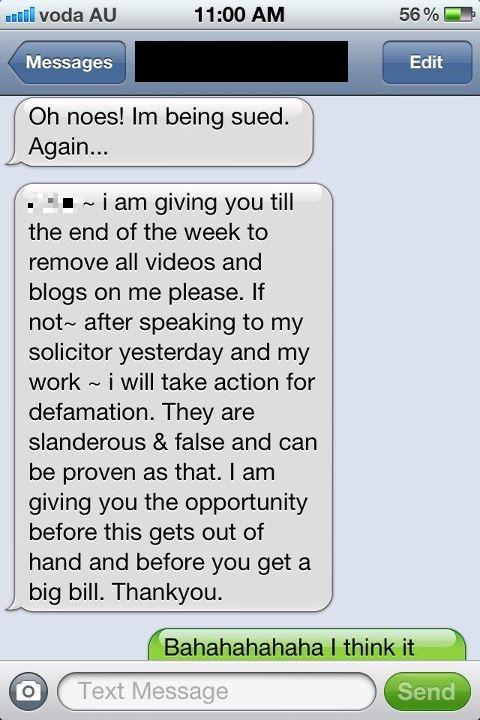 Goblin wants to sue