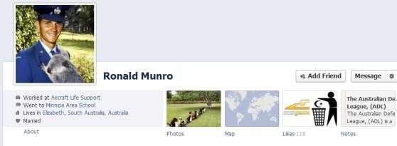 Ron Munro Facebook