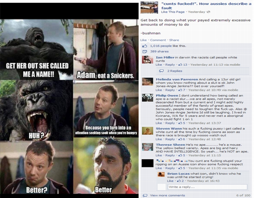 racist2 indigenous page 2 you said it