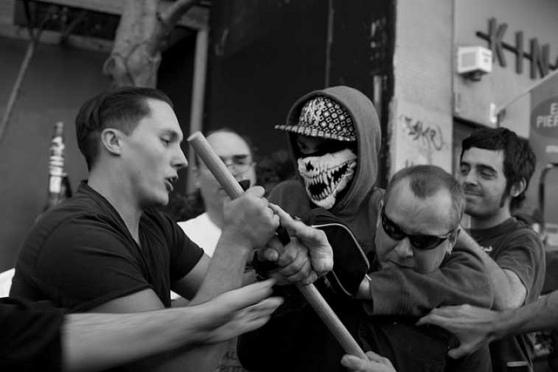 Joel defending the Fascists against antifa counter-demonstrators